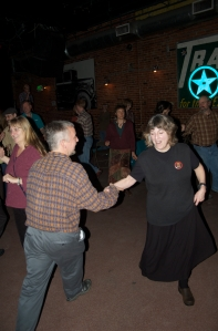 Debbie dances the night away